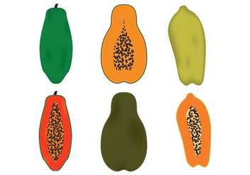 Papaya Vector - Free vector #353765