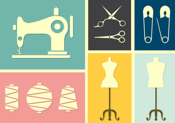 Vector Set of Tailoring - Free vector #353785
