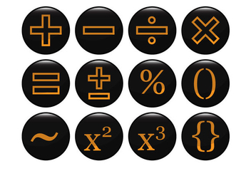 Free Mathematical Black Icon Vector - Free vector #353795