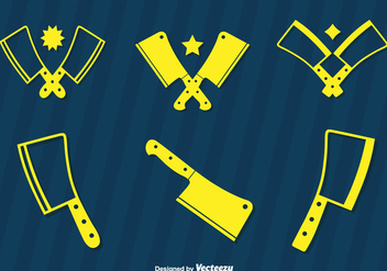Cleaver Icon Set Vector - vector gratuit #353815