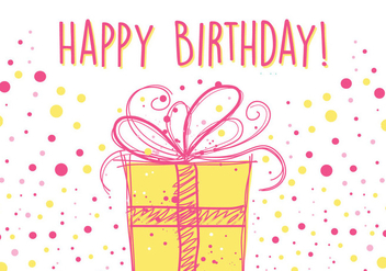 Birthday Card Design - Kostenloses vector #353835