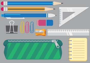 School Vector Items - vector gratuit #353855