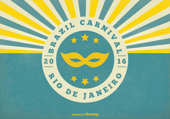 Retro Brazil Carnival Illustration - vector gratuit #353895