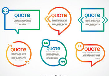 Quotation Mark Speech Bubble Gradient Vector - vector gratuit #353935