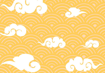 Free Chinese Clouds Pattern Vector - Free vector #354005