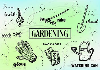 Free Gardening Vector Illustrations - Free vector #354025