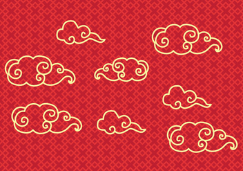 Free Chinese Cloud Vector - vector gratuit #354045