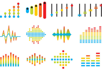 Sound Bars Icon Vectors - бесплатный vector #354125