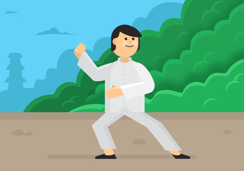 Vector Tai Chi Man - Free vector #354135