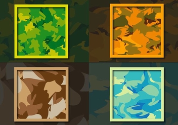 Multicam Camouflage Pattern Background - Free vector #354155