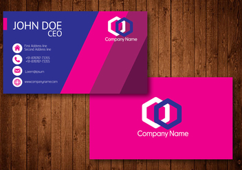 Hot Pink Creative Visiting Card Vector - Free vector #354185