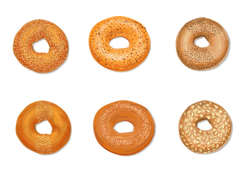 Bagels Vector Pack - Free vector #354195