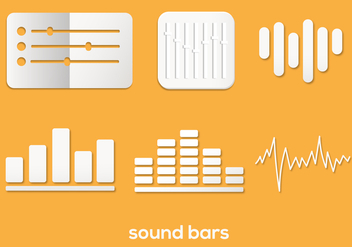Sound Bar Vector Set - vector gratuit #354345