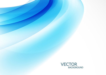 Abstract Stylish Blue Wave - Free vector #354375