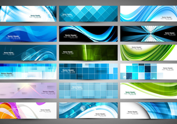 Collection Of Header For Business Card - vector #354395 gratis