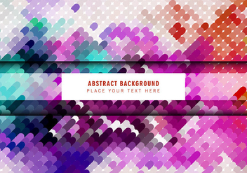 Colorful Mosaic Pattern - vector gratuit #354405