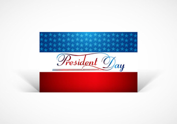 President Day Card - vector #354445 gratis