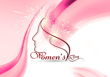 Women's Day Card With Wave Design - vector gratuit #354485