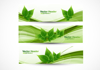 Eco Friendly Header - Kostenloses vector #354575