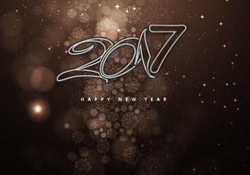 New Year 2016 On Brown Decorative Background - vector gratuit #354675