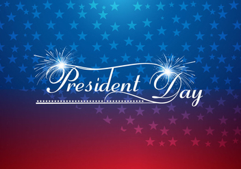 President Day Text With Fire Cracker - vector gratuit #354735