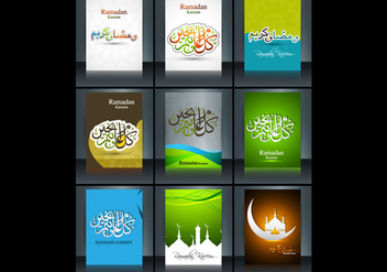 Arabic Islamic Calligraphy Of Ramadan Kareem - бесплатный vector #354765