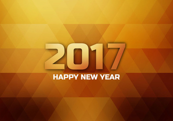 Shining 2017 Happy New Year Card - vector gratuit #354835