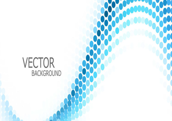 Wave With Abstract Blue Circle - vector gratuit #354855