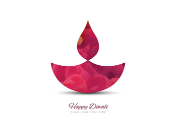 Colorful Diya For Diwali Festival - бесплатный vector #354865