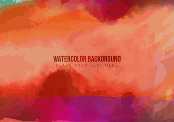 Colorful Watercolor Stain - vector gratuit #354875