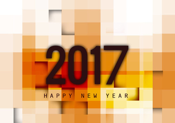 Greeting Card Of Happy New Year 2017 - vector gratuit #354885
