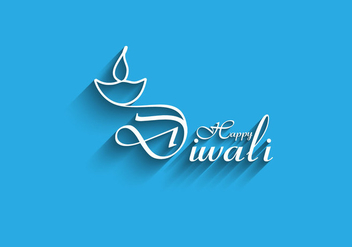 Happy Diwali Card With Blue Background - Kostenloses vector #354905