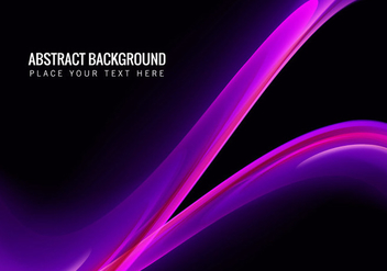 Abstract Background With Pink Wave - vector gratuit #355005
