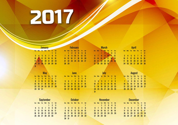 Calendar Of Year 2017 - vector #355015 gratis