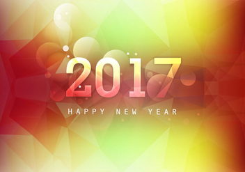 Glowing Happy New Year 2017 - Kostenloses vector #355035