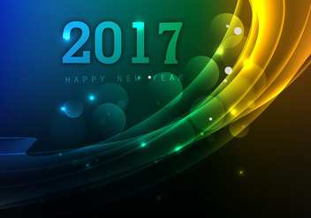 Beautifully Designed Happy New Year 2017 - Free vector #355065