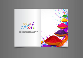 Happy Holi Greeting Card - бесплатный vector #355075