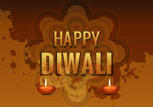 Traditional Happy Diwali Card - vector gratuit #355095