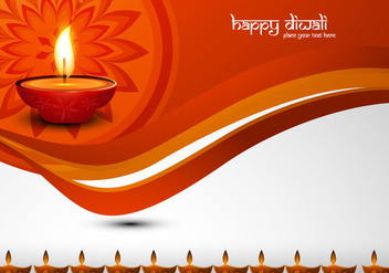 Happy Diwali Decorative Card - vector gratuit #355115