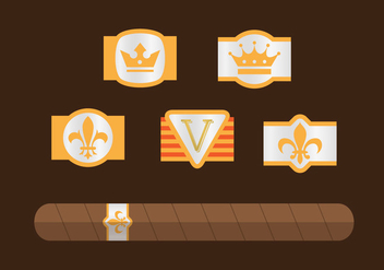 Cigar Label Vector Pack - vector gratuit #355185