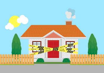 Home Crime Scene Police Line Vector - Free vector #355195
