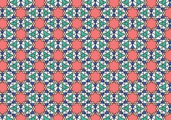 Geometric Moroccan Pattern Bakcground - vector gratuit #355225