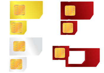 Cellphone SIM Card Vector - vector gratuit #355275