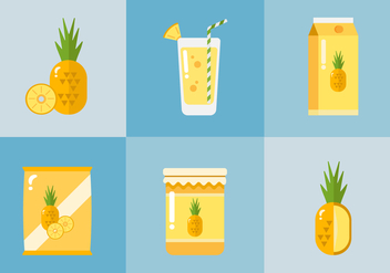 Vector Ananas Products - vector gratuit #355285