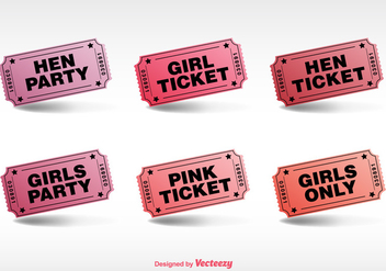 Hen Party Ticket Vector - vector gratuit #355295