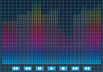 Bright Sound Bar Illustration Vector - vector #355305 gratis
