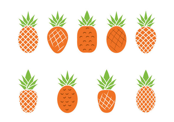 Free Ananas Vector Illustration - бесплатный vector #355335