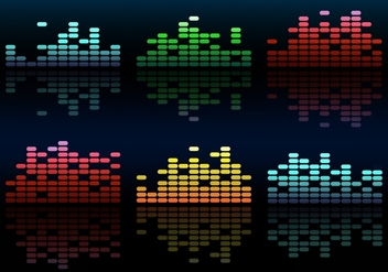 Colorful Free Vector Music Equalizer - vector gratuit #355345
