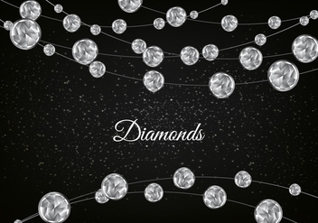 Free Vector Diamond Sparkling Background - бесплатный vector #355365