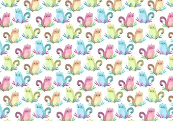 Free Vector Pattern With Animals - бесплатный vector #355395